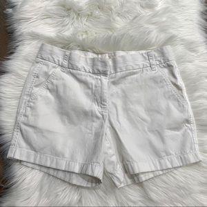 J. Crew Weathered Chino White Shorts